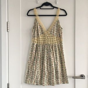 Topshop Sundre Crochet Trim Sundress